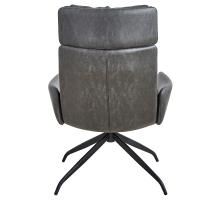 Reese KD PU Swivel Accent Chair, Momentum Black/3000020-314