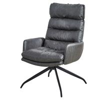 Reese KD PU Swivel Accent Chair, Momentum Black *NEW*/3000020-314