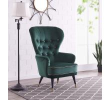 Dorothy KD Velvet Fabric Tufted Accent Chair, Viridian Green *NEW*/4500023-364