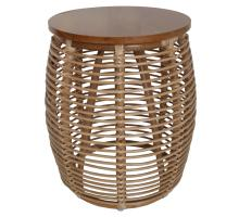 Iris Rattan End Table, Honey *NEW*/4900017