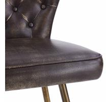Jules KD PU Swivel Counter Stool Brushed Gold Legs, Monsoon Black *NEW*/5600015-359