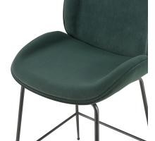 Lucy KD Velvet Fabric Counter Stool, Gallery Dark Green *NEW*/9300052-360