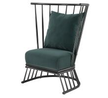 Jupiter KD Velvet Fabric Metal Accent Chair, Gallery Dark Green *NEW*/9300053-360