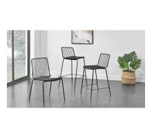 Thomas Metal Counter Stool Black Cushion, Metalic Gunmetal *NEW*/9300055