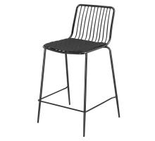 Thomas Metal Counter Stool Black Cushion, Metallic Gunmetal *NEW*/9300055