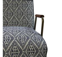 Kahlo Fabric Accent Chair, Azure Diamond/ Vintage Midnight/9900035-37MN
