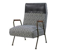 Kahlo Fabric Accent Chair, Azure Diamond/ Vintage Midnight *NEW*/9900035-37MN