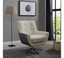Astoria KD Fabric Swivel Accent Chair, Aspen Cream/ Azure Diamond/9900037-3773