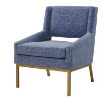 Hamilton Fabric Accent Chair Gold Legs, Geo Stella Blue *NEW*/9900038-376
