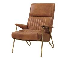 Caspian Bonded Leather Accent Chair Gold Legs, Vintage Cider *NEW*/9900040-VCD