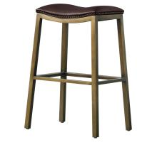 Elmo KD Bonded Leather Metal Bar Stool, Brown *NEW*/3900051-01