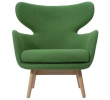 Devana Fabric Accent Chair Natural Legs, Forest Green/1020003-196