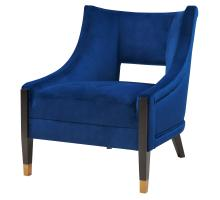 Eugene Velvet Fabric Accent Chair w/ Gold Tip Legs, Dulce Blue *NEW*/9900036-333