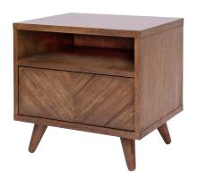 Piero KD Chevron Night Stand/ Side Table, Monterey/7800045