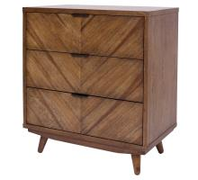 Piero KD Chevron Chest 3 Drawers, Monterey/7800047