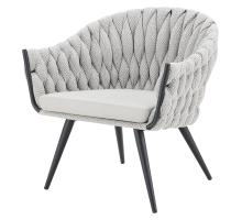 Fabian KD Fabric/ PU Accent Chair, Alpine Light Gray/ Fairfax Gray *NEW*/1240007-5006