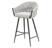 Fabian KD Fabric/ PU Bar Stool, Alpine Light Gray/ Fairfax Gray *NEW*/1240008-5006