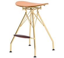 Yara KD Metal Counter Stool North Caramel Cushion, Gold *NEW*/1360005-510