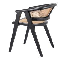 Seine Rattan Dining Arm Chair, Black/ Natural/4900020
