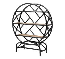 Sonia KD Rattan Bookcase, Black/ Natural *NEW*/4900023