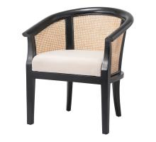 Sabine Rattan Chair, Black/ Natural *NEW*/4900024