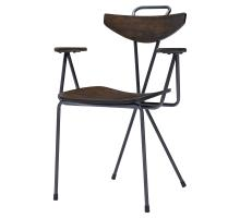 Wagner KD Metal Arm Chair, Walnut *NEW*/9300068