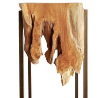 Jansen Reclaimed Teak Root High Side Table, Natural/9600028