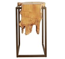 Jansen Reclaimed Teak Root  Side Table, Natural/9600029