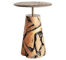 Mia Reclaimed Teak Wood Side Table, Natural *NEW*/9600031
