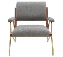 Smith KD Fabric Accent Arm Chair, Century Gray/9900053-331