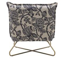 Yukon Fabric Accent Chair, Azure Floral/9900056-516