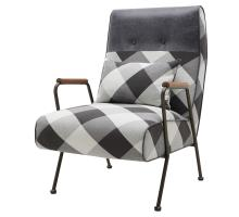 Kahlo Fabric Accent Chair, Mono Gingham/ Vintage Midnight *NEW*/9900057-51MN