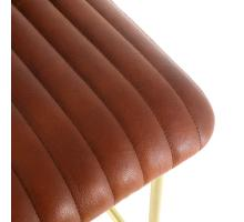 Lewis Leather Bar Stool Gold Legs, Ale Brown *NEW*/1290001