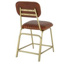 Lewis Leather Chair Gold Legs, Ale Brown/1290003