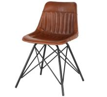 Garren Leather Chair, Ale Brown *NEW*/1290004