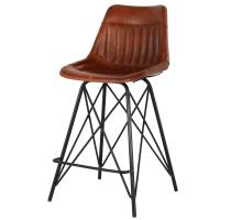 Garren Leather Counter Stool, Ale Brown *NEW*/1290005