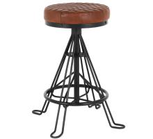 Niel Leather Backless Counter Stool, Ale Brown *NEW*/1290008