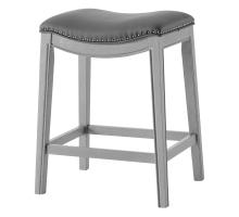 Grover KD PU Counter Stool Ash Gray Frame, Matte Gray *NEW*/1330001-385