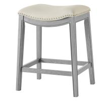 Grover KD PU Counter Stool Ash Gray Frame, Matte Beige/1330001-386