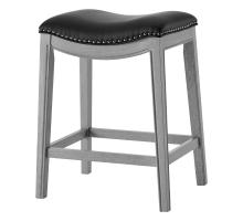 Grover KD PU Counter Stool Ash Gray Frame, Matte Black *NEW*/1330001-387