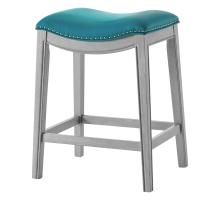 Grover KD PU Counter Stool Ash Gray Frame, Matte Turquoise *NEW*/1330001-388