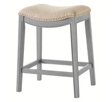 Grover KD Fabric Counter Stool Ash Gray Frame, Lyon Cream *NEW*/1330002-389