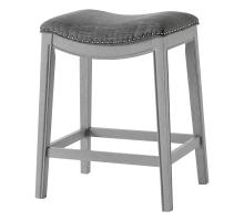 Grover KD Fabric Counter Stool Ash Gray Frame, Lyon Dark Gray *NEW*/1330002-391