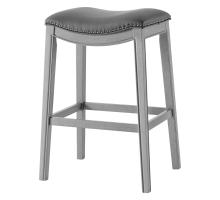 Grover KD PU Bar Stool Ash Gray Frame, Matte Gray *NEW*/1330003-385