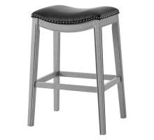 Grover KD PU Bar Stool Ash Gray Frame, Matte Black *NEW*/1330003-387