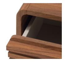 Wilson KD Slat Side/ End Table, Walnut (ASSEMBLY REQUIRED)/1340006