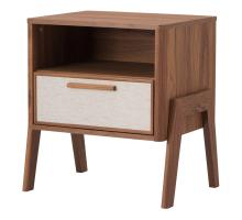 Heaton KD Side Table 1 Drawer, Walnut (ASSEMBLY REQUIRED) *NEW*/1340010