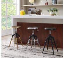 Elton KD Metal Swivel Backless Stool, Gold *NEW*/1350002-G