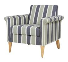 Gillian KD Fabric Accent Chair, Hurley Stripe Blue/1900125-379