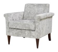 Gillian KD Velvet Fabric Accent Chair, Persian Gray *NEW*/1900126-380
